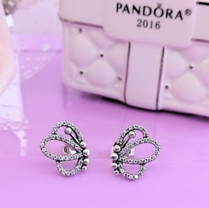 Pandora BUTTERFLY OUTLINES EARRINGS